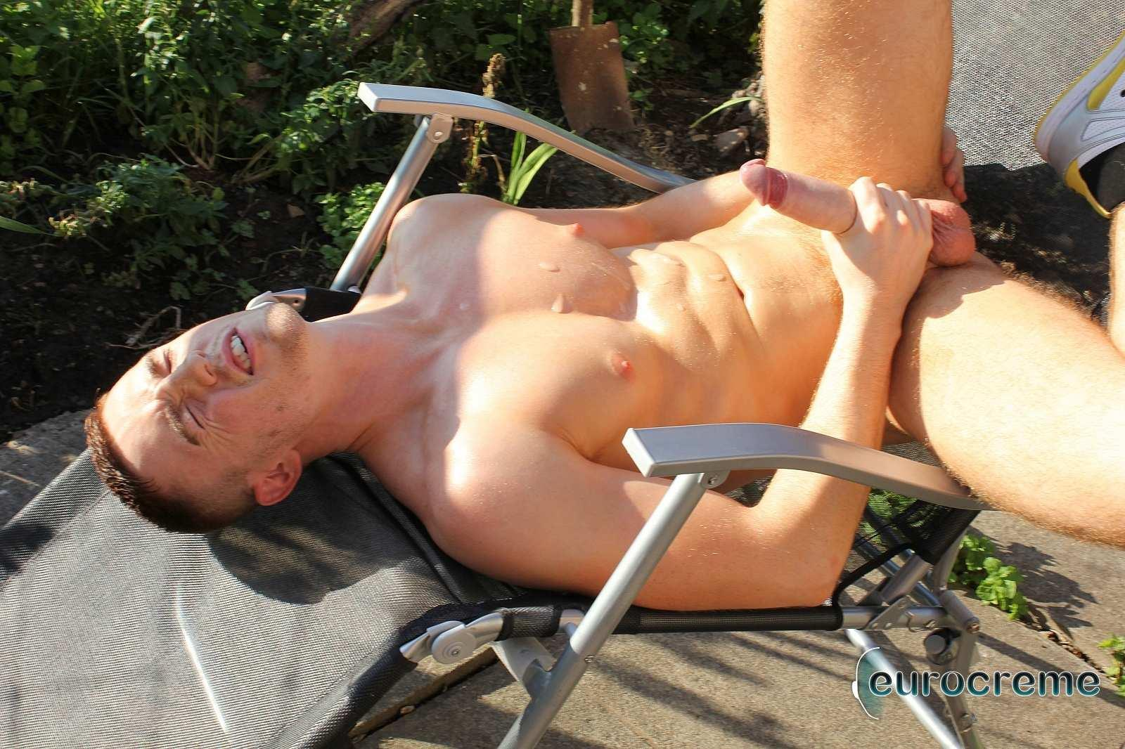 Eurocreme-JP-Dubois-Biggest-Uncut-Cock-Ever-Twink-Jerking-Off-Amateur-Gay-Porn-14 JP Dubois Jerking Off His Massive Uncut Cock In The Countryside