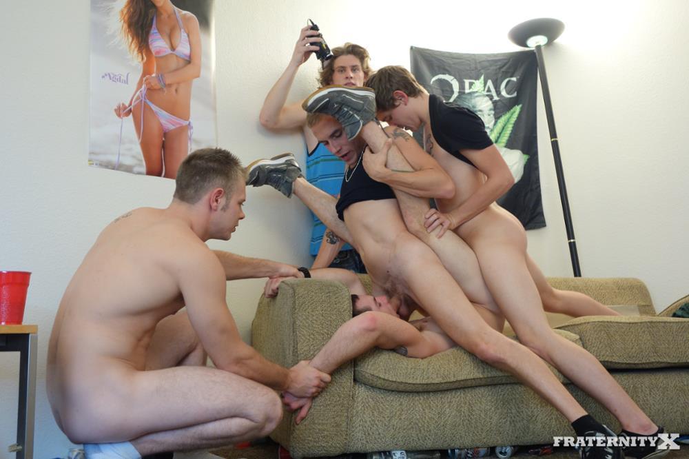 Gay twink spanking