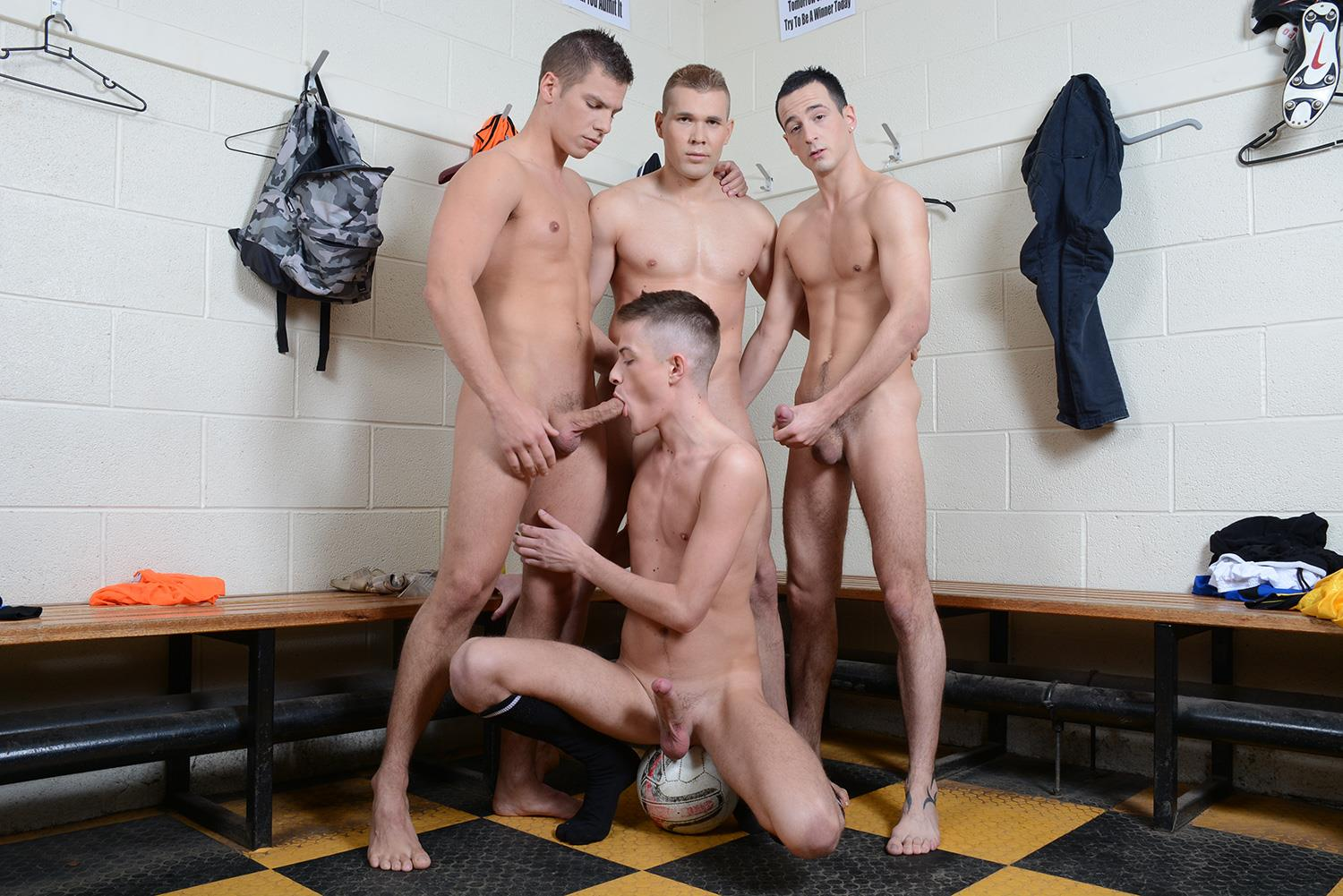 Staxus Sportladz Jordan Fox and Luke Desmond and Paul Walker and Skylar Blu Amateur Gay Porn 06 World Cup Fever: Uncut Soccer Players Fucking In The Locker Room