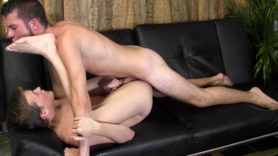 Straight Fraternity JC and Steffan Straight Twink Sucks First Cock And Barebacks Amateur Gay Porn 23 Straight Fraternity Boy Barebacks An Ass For The First Time