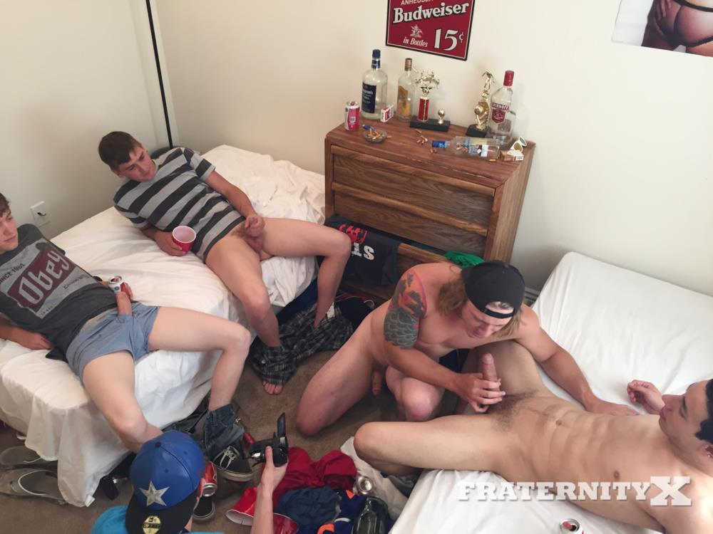 Fraternity X College Guys Fucking Bareback Video Amateur Gay Porn 09 Drunk Frat Guys Sucking Cock And Getting Fucked Bareback