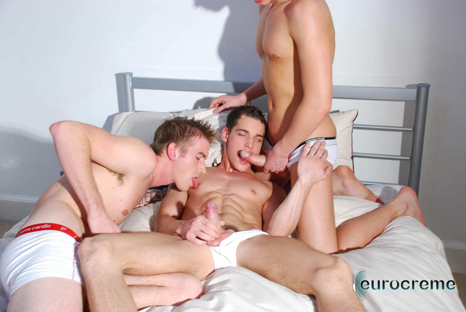 Eurocreme-Matt-Hughes-and-Alex-Stevens-and-Philipe-Delvaux-Twinks-Fucking-Amateur-Gay-Porn-06 Matt Hughes Uses His 11-Inch Uncut Cock On Two Tricks