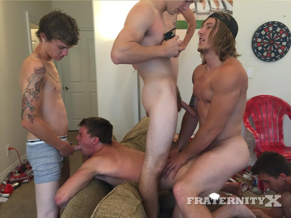 frat party Naked boy