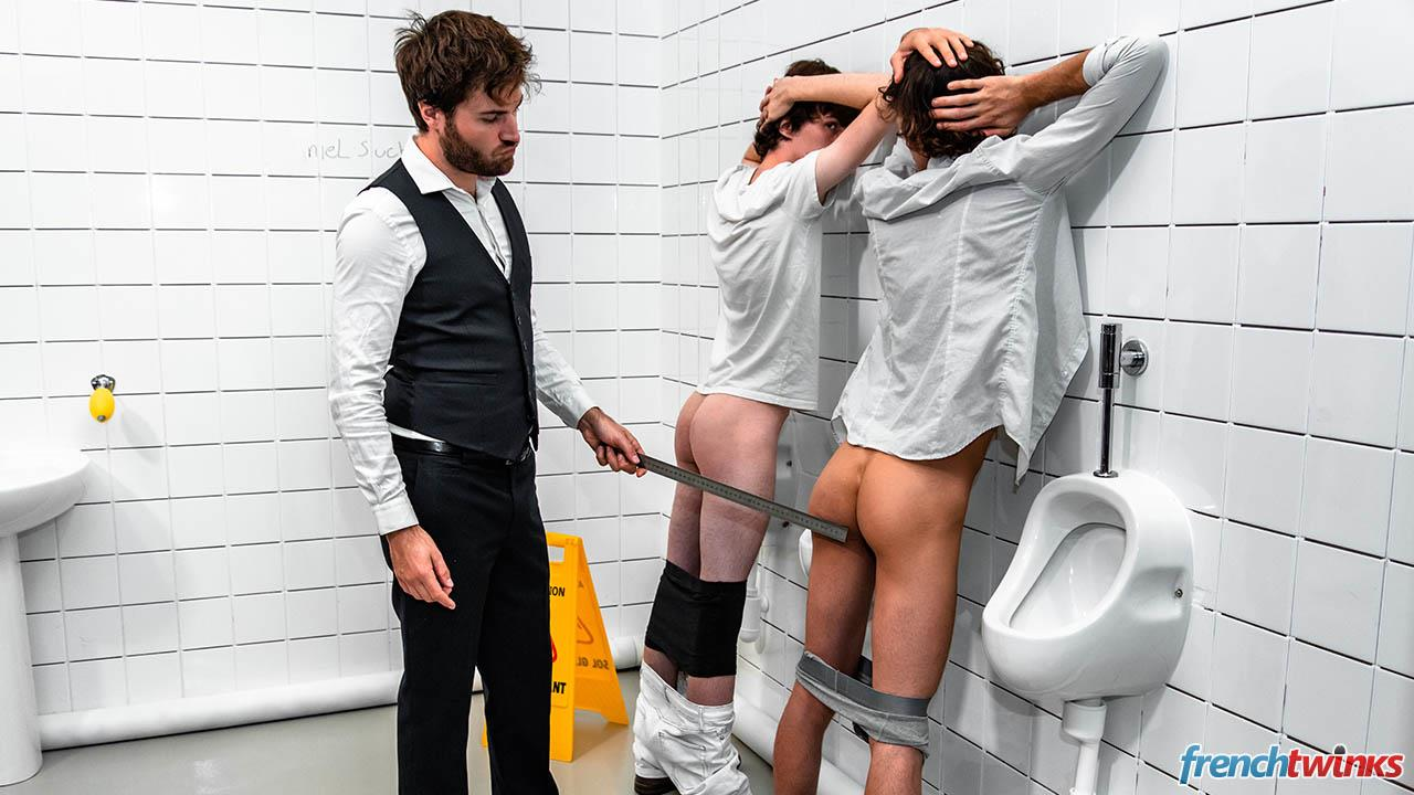 French-Twinks-Doryann-Marguet-and-Clark-Lewis-and-Paul-Delay-Twinks-Fucking-In-Bathroom-15 French Twinks Share An Older Guys Load Of Cum