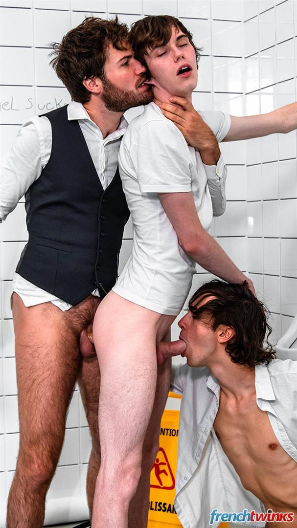 French-Twinks-Doryann-Marguet-and-Clark-Lewis-and-Paul-Delay-Twinks-Fucking-In-Bathroom-19 French Twinks Share An Older Guys Load Of Cum