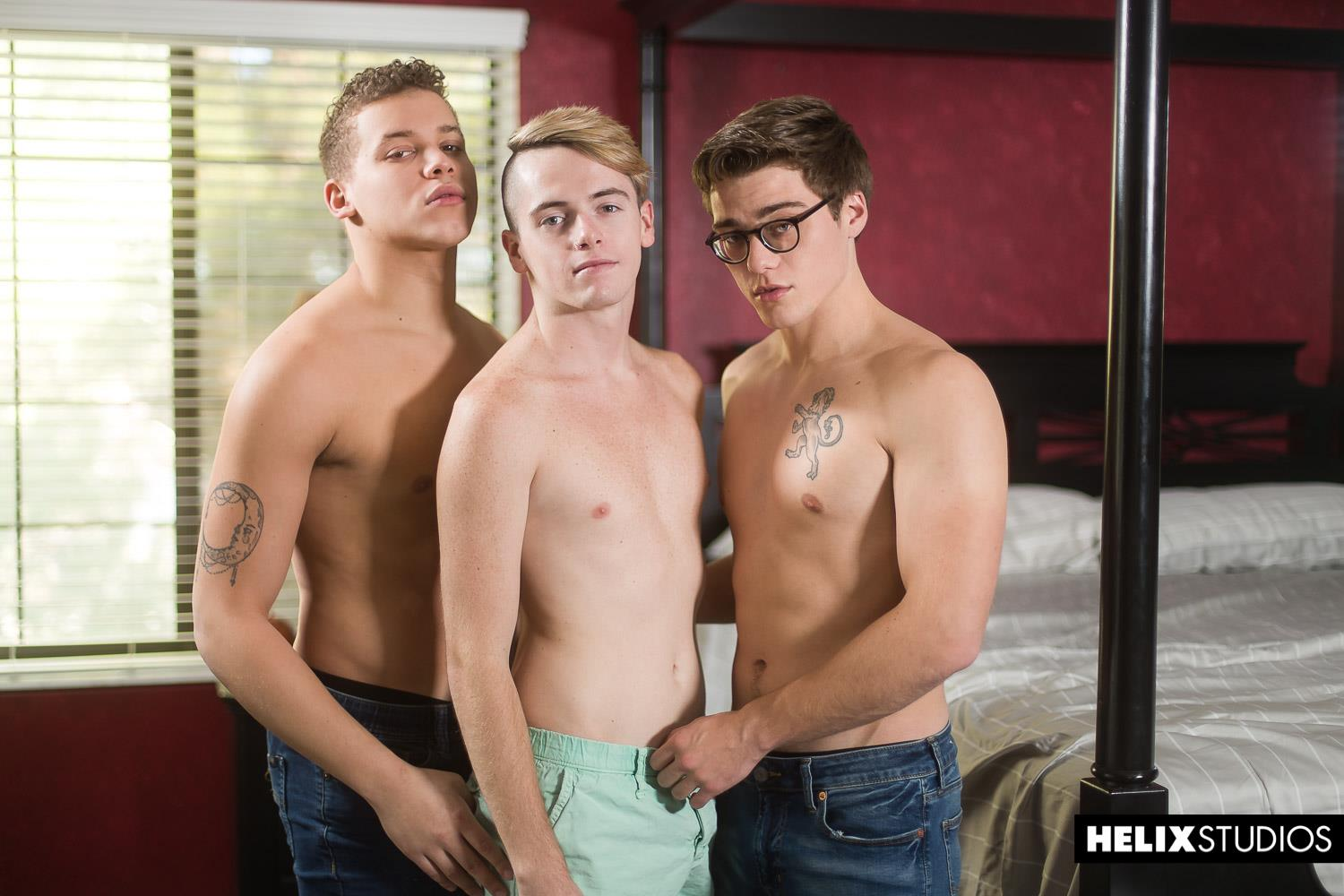 Helix-Studios-Blake-Mitchell-and-Corbin-Colby-and-Clay-Turner-Bareback-Twinks-04 Helix Bareback Spitroasted Threeway With Blake Mitchell, Corbin Colby, Clay Turner